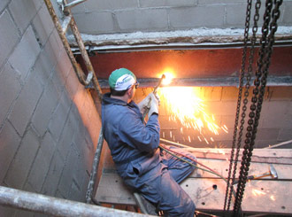 Welding in Concrete Foundation
