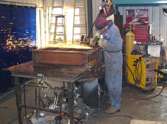 Welding at a Table